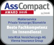 InterRisk_Maklerservice_pAV_Fachkompetenz_Siegel_Awards_2016